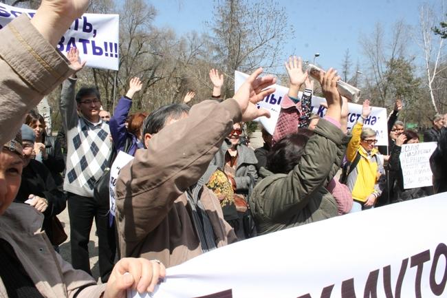 protesto eylemi almaata
