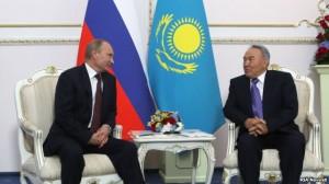 putin ve nazarbayev