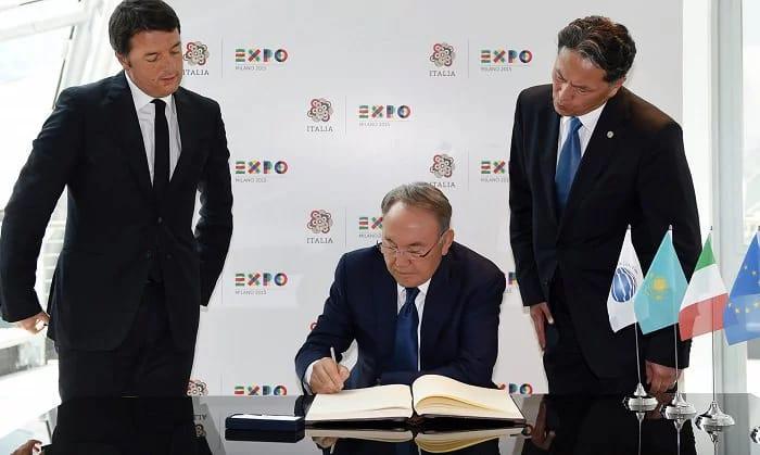 nazarbayev italyada