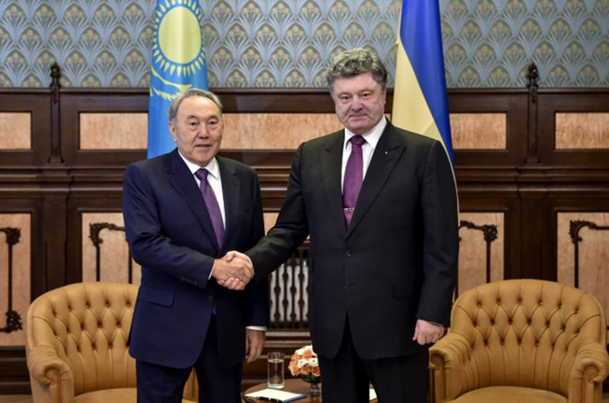 nazarbayev poroşenko